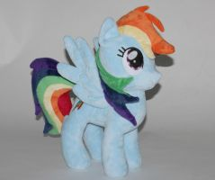 Talking Rainbow Dash Plushie by eebharas