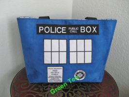 Tardis - Police Public Call Box Tote Bag by GreenTeaCreations