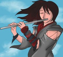 Faya and his Flute by SyrynValentyne