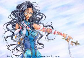 Scheherazade .Copic marker. by escafan