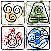 ATLA Element Symbols by piandaoist