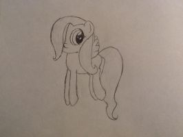 Filly Fluttershy-Uncolored by curlyhair5342