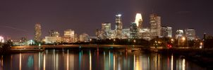 Minneapolis skyline at night by laurierose28