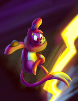 Practice drawing - Kevin leaps out of danger by ScottFraser