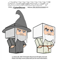 Cubeecraft - Gandalf by CyberDrone
