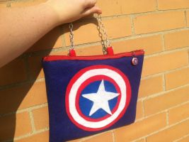 Captain America Purse by AiwenStarr