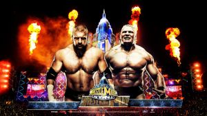 WM 29 ~ HD Wallpaper ~ HHH vs Lesnar by MhMd-Batista