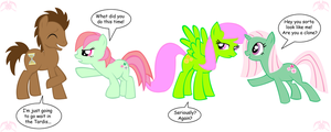 MLP: 3 Mintys and the Doctor by KPenDragon