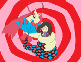 Lucy and Milotic by PuffyTopianMan