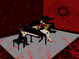 MMD Accessory Grand piano DL by innaaleksui