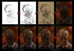 2 faced painting process by aaronwty