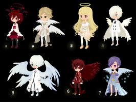 Free angel adoptables by selfy-adopts