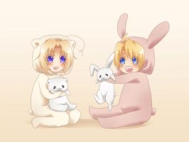 APH - Polar Bear and Bunny by Hetalia-Canada-DJ