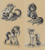 Free sketches for ponies - Patch 1 by hecatehell