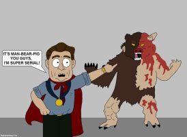 South Park - Al Gore And Man-Bear-Pig by RobotHellboy1114