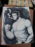 Wolverine timelapse VIDEO using COPIC by Sajad126