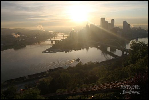 Pittsburgh dawn by DragonWolfACe