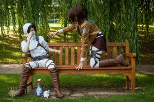 Attack on Titan - Attack on Bench - Levi x Hanji by faramon