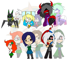 Assorted Chibis - AU Darin and Friends by Dragon-FangX