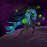 QUEEN CHRYSALIS IN SPACE by violalala
