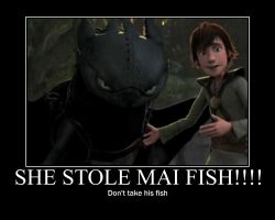 Toothless wants fish back by WALLEBob