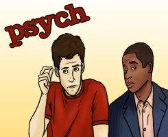 Psych: Shawn and Gus by alifsu17