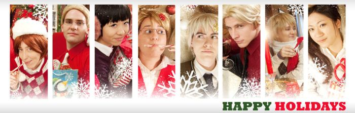 Hetalia Holiday Greeting by QueenMantis