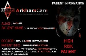 Arkham inmate Jason Voorhees by tr4br
