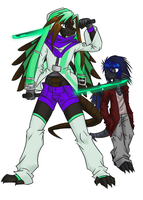 Sable Suza and Grid Suza by AminoNoodle