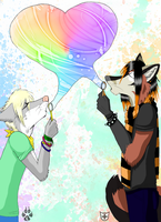 Blowing Bubbles Colab by Ashen-Fox