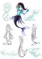Character Design: Undine by CrispyCh0colate