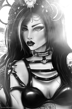 Malina Black and white by MakeMeMagical