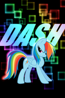 Rainbow Dash 'Dash' iPod Wallpaper by daughterdragon