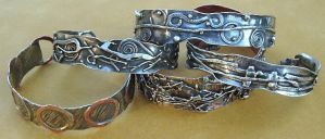 Five Fused Cuffs by MarieCristine