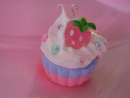 Strawberry Deco Cupcake by Lustfulwish