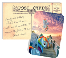 Pony Postcard - Rainbow Dash by selinmarsou