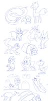 Moar sketches chars and more by griffsnuff
