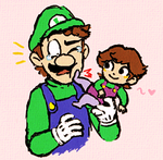 Daddy Luigi and Baby Laura by WhiteTigerCubMia