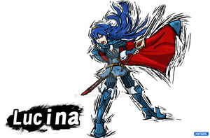 Smash Art- Lucina by Hawke525