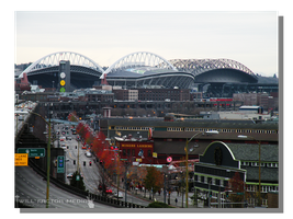 Alaskan Way to the Twin Stadiums by WillFactorMedia