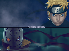 Naruto vs Tobi by xSunRay