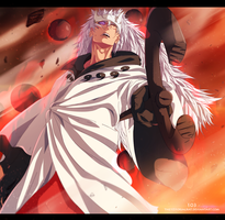 Naruto 664 - Madara Juubi mode by the103orjagrat
