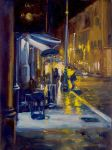 Night Life-Rome, Oil Painting by AstridBruning
