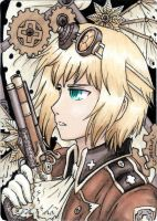 Steampunk Switzerland (ACEO) by Eeveetachi