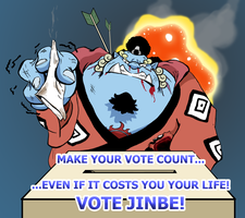 Jinbe Sez Vote With Your Life by batwing321