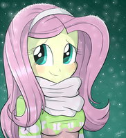 Cute Girl Fluttershy by Riouku