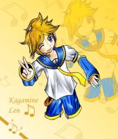 Kagamine Len Smile by omgOVER9000