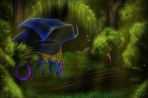 The forest full of calm by DraconianArtLine