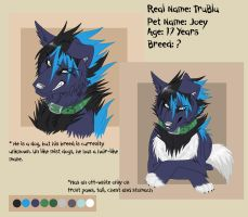 TruBlu Ref Sheet by KasaraWolf