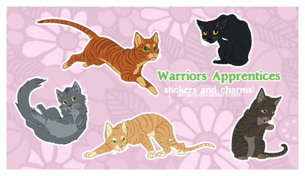 Warriors Apprentice Stickers and Charms comingsoon by ashkey